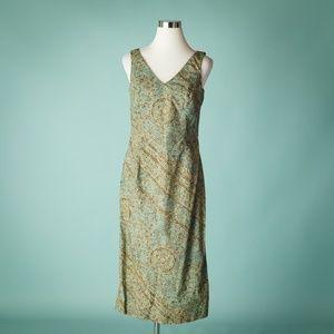 Peruvian Connection 8 Green Midi Printed Dress